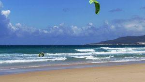 una playa segura para la practica de kitesurf