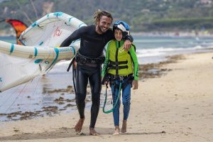 Alumno de curso de kitesurf